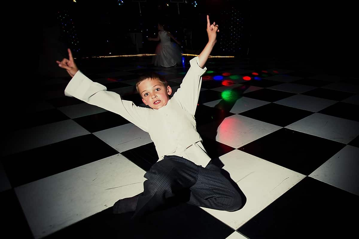 Boy dancing at a wedding, like a boss!