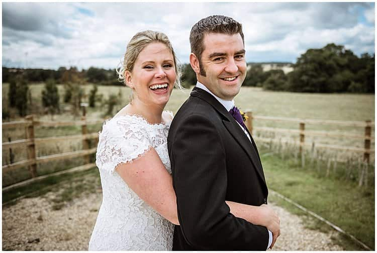 beautiful bride and groom at dodford manor