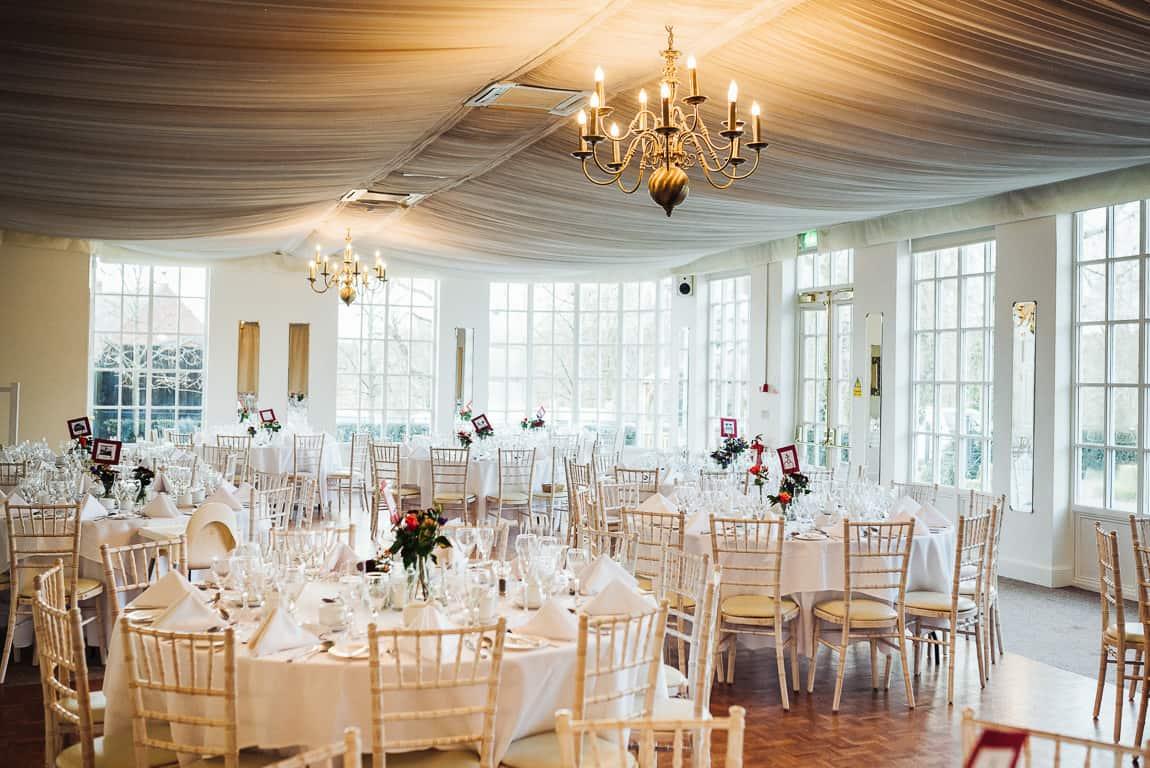 Warwick House Wedding Breakfast Room