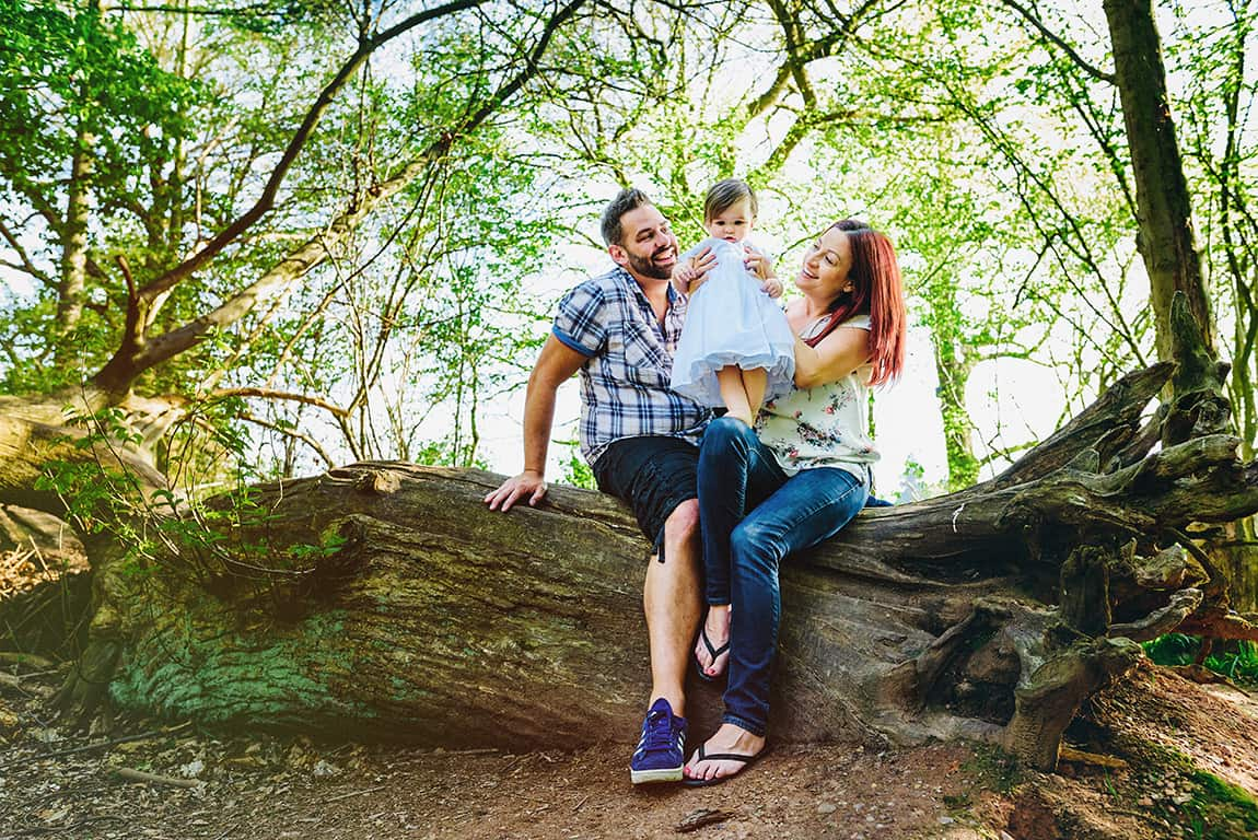 Crackly woods family photography
