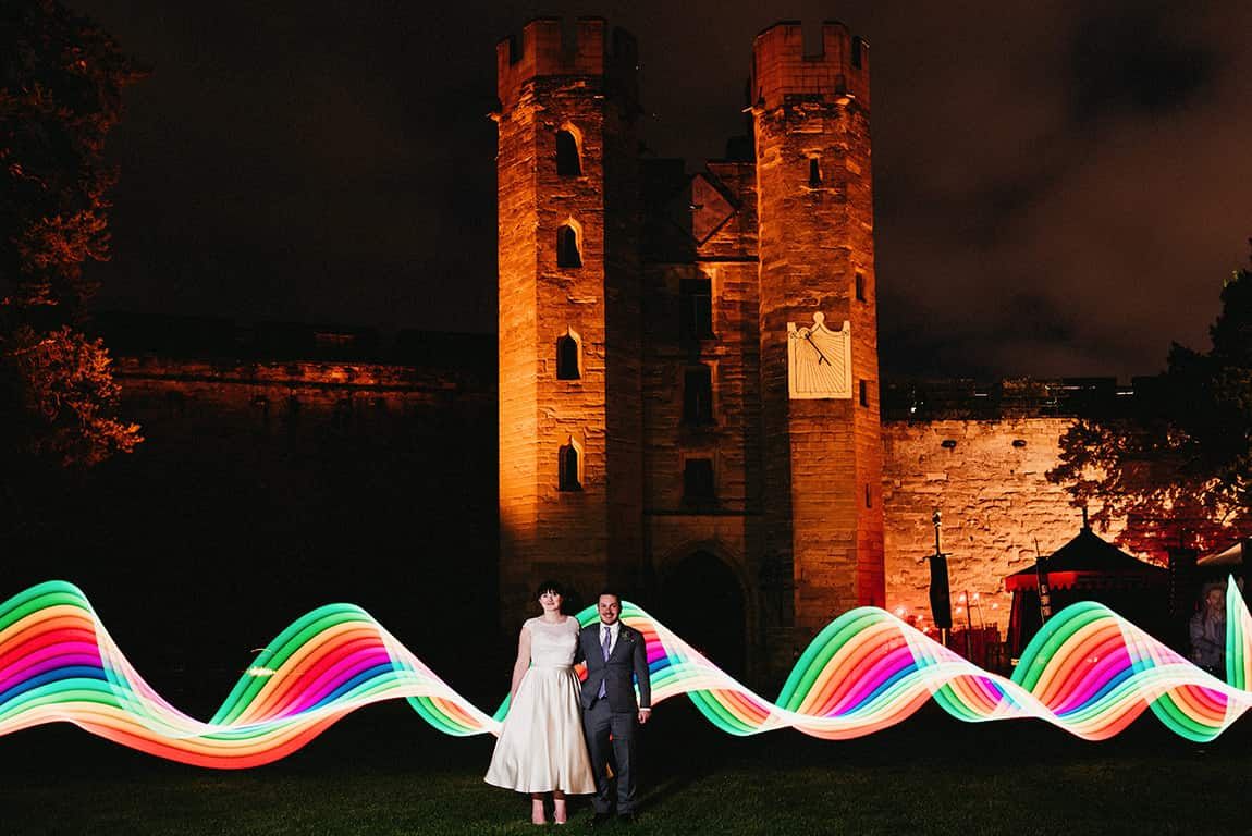 Warwick Castle Light painting